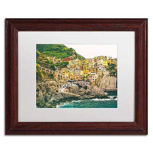 """Trademark Fine Art Ariane Moshayedi 'Cinque Terre 3' 11"""" x 14"""" Matted Framed (190836266487)"""