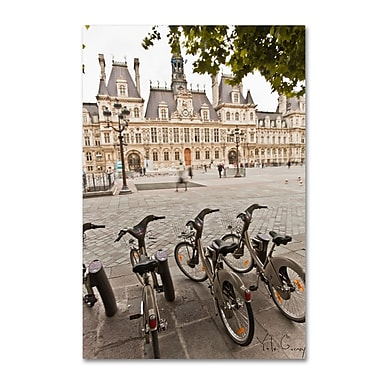 Trademark Fine Art Yale Gurney 'Paris Deux - City Hall Bicycles' 12