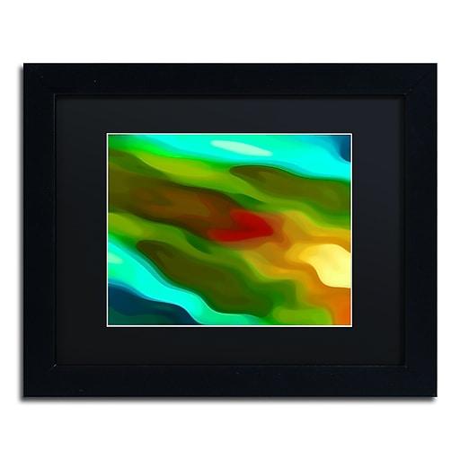"""Trademark Fine Art Amy Vangsgard 'River Runs Through 4' 11"""" x 14"""" Matted Framed (886511935570)"""