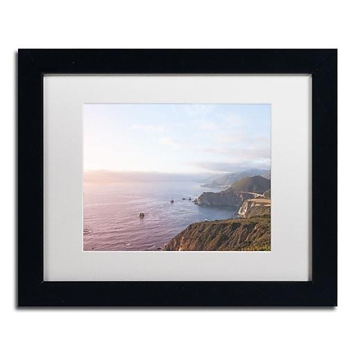 """Trademark Fine Art Ariane Moshayedi 'Big Sur Coast' 11"""" x 14"""" Matted Framed (190836263844)"""