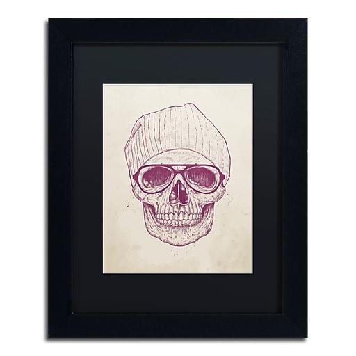 "Trademark Fine Art Balazs Solti 'Cool Skull' 11"" x 14"" Matted Framed (190836177097)"