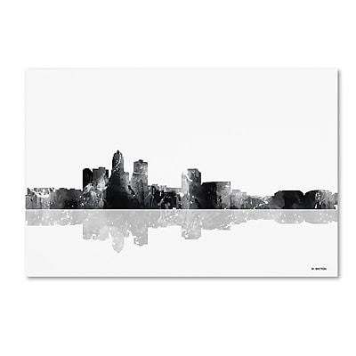 Trademark Fine Art Marlene Watson 'Des Moines Iowa Skyline BG-1' 12