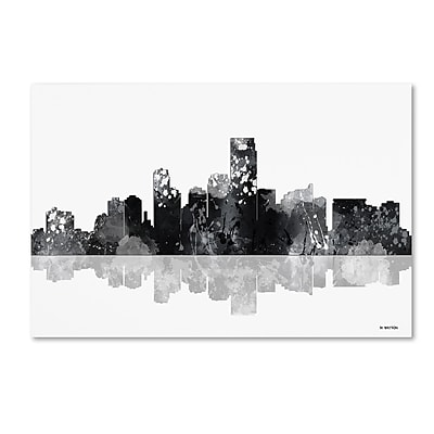 Trademark Fine Art Marlene Watson 'Jersey City New Jersey Skyline BG-1' 12