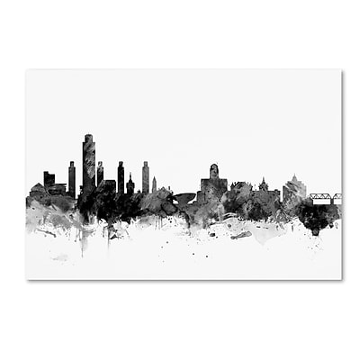 Trademark Fine Art Michael Tompsett 'Albany New York Skyline B&W' 12