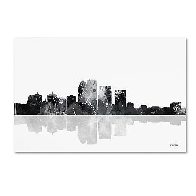 """Trademark Fine Art Marlene Watson 'Louisville Kentucky Skyline BG-1' 12"""" x 19"""" Canvas Stretched (190836194780)"""