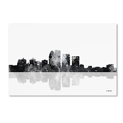Trademark Fine Art Marlene Watson 'Louisville Kentucky Skyline BG-1' 12