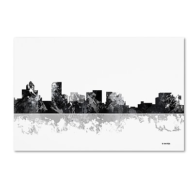 Trademark Fine Art Marlene Watson 'Salem Oregon Skyline BG-1' 12