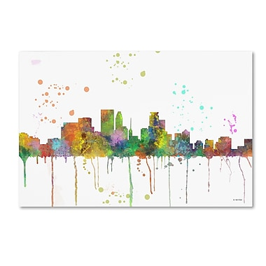 Trademark Fine Art Marlene Watson 'Minneapolis Minnesota Skyline Mclr-1' 12