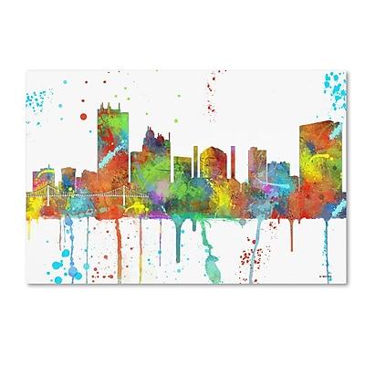 Trademark Fine Art Marlene Watson 'Toledo Ohio Skyline Mclr-1' 12