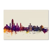 "Trademark Fine Art Michael Tompsett 'Albany New York Skyline' 12"" x 19"" Canvas Stretched (190836027910)"