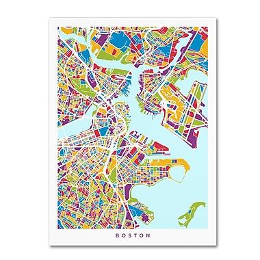 Trademark Fine Art Michael Tompsett 'Boston MA Street Map 2' 14