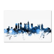 "Trademark Fine Art Michael Tompsett 'Atlanta Georgia Skyline White' 12"" x 19"" Canvas Stretched (190836093069)"
