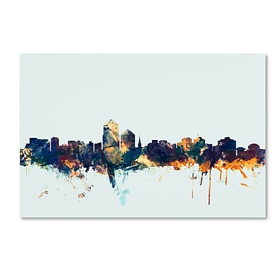 Trademark Fine Art Michael Tompsett 'Albuquerque NM Skyline Blue' 12