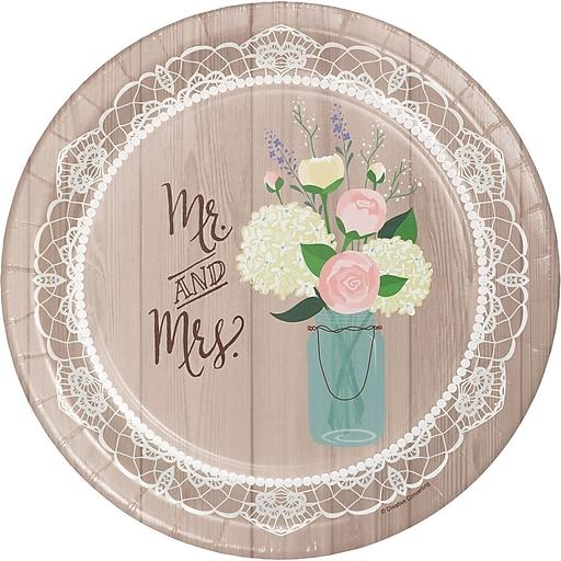 Creative Converting Rustic Wedding Banquet Plates 8 pk (428706)