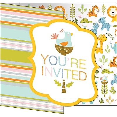 Creative Converting Happy Jungle Invitations 8 pk (324589)