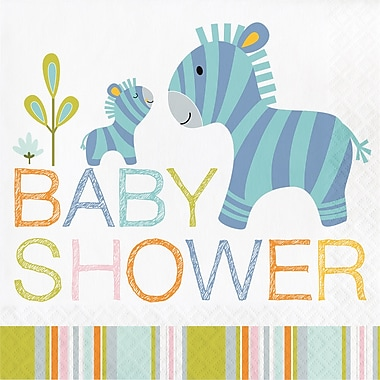 Creative Converting Happy Jungle Baby Shower Napkins 16 pk (324581)