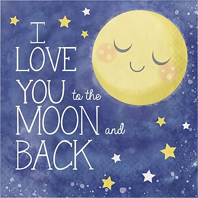 Creative Converting To the Moon and Back Napkins 16 pk (321804)