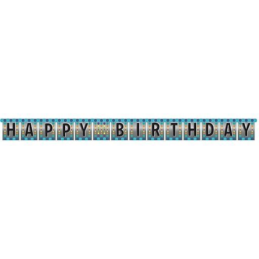 Creative Converting Birthday Pop Party Banner (291834