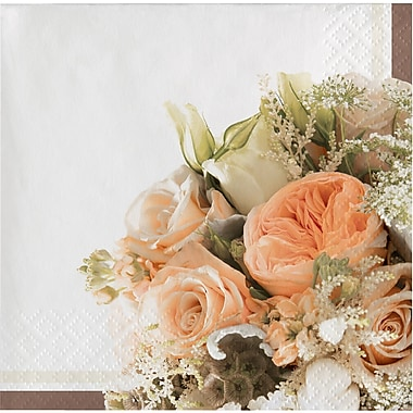 Creative Converting Rose Gold Bouquet Beverage Napkins 16 pk (318159)