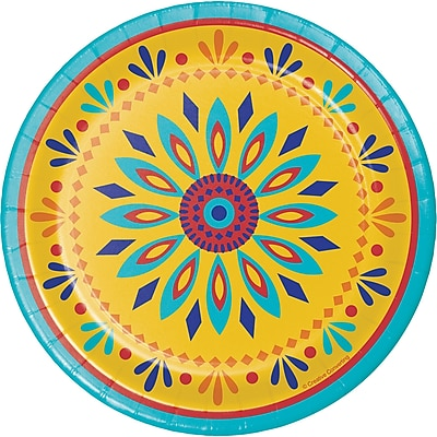 Creative Converting Painted Pottery Dessert Plates 8 pk (319663)