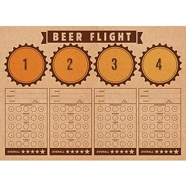 Creative Converting Cheers and Beers Beer Flight Placemats 24 pk (325085)