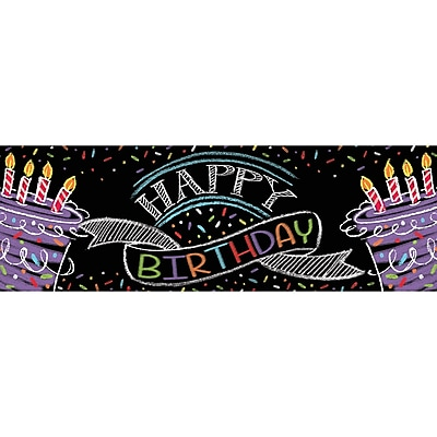 Creative Converting Chalk Birthday Party Banner (295971)