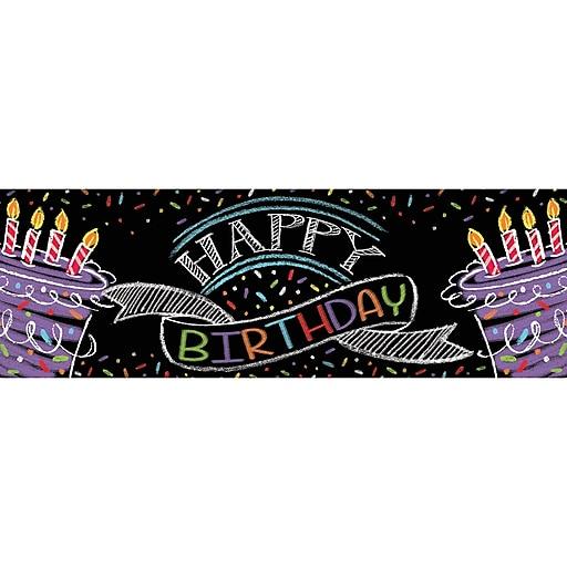 Creative Converting Chalk Birthday Party Banner (295971