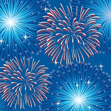 Creative Converting Fireworks and Flags Beverage Napkins 16 pk (319630)