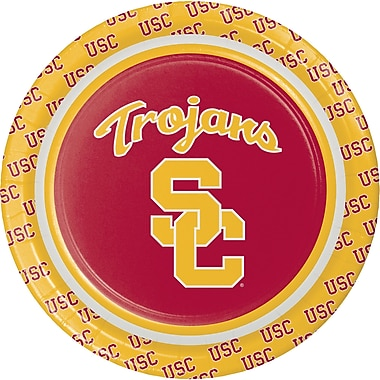 NCAA University of Southern California Dessert Plates 8 pk (414857)