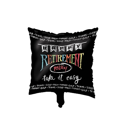 Creative Converting Retirement Chalk Mylar Balloon (045977)