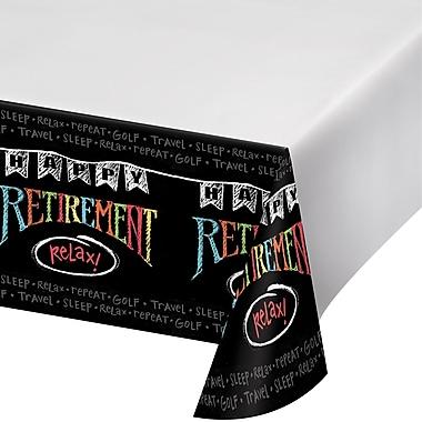 Creative Converting Retirement Chalk Plastic Tablecloth (725977)