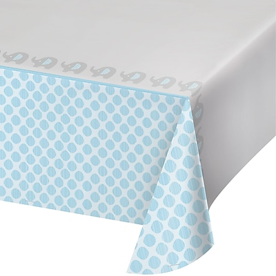 Creative Converting Little Peanut Boy Elephant Plastic Tablecloth (316939)