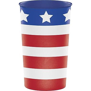 Creative Converting Patriotic Flag Plastic Cups (014392)