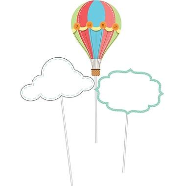 Creative Converting Up, Up, and Away Hot Air Balloon DIY Centerpiece Sticks 3 pk (315330)