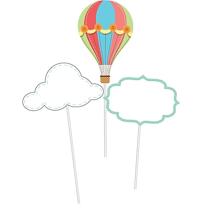 Creative Converting Up, Up, and Away Hot Air Balloon DIY Centerpiece Sticks 3 pk (315330)