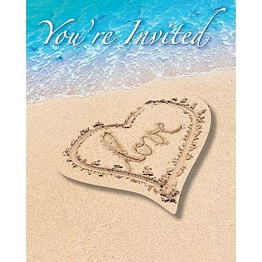 Creative Converting Beach Love Invitations 8 pk (897363)
