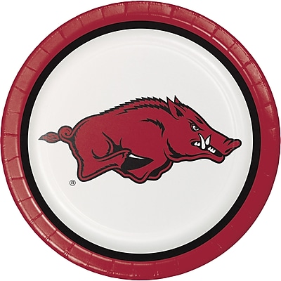 NCAA University of Arkansas Paper Plates 8 pk (420855)