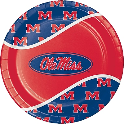 NCAA University of Mississippi Paper Plates 8 pk (424893)