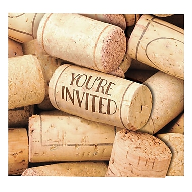 Creative Converting Sip Sip Hooray Wine Invitations 8 pk (324450)