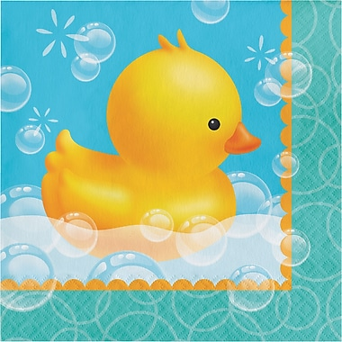 Creative Converting Rubber Duck Bubble Bath Napkins 16 pk (667058)