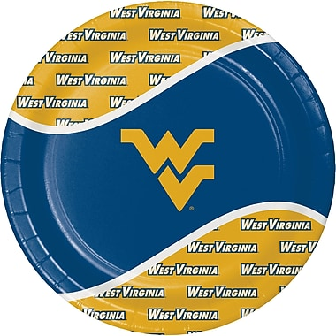 NCAA West Virginia University Paper Plates 8 pk (424895)