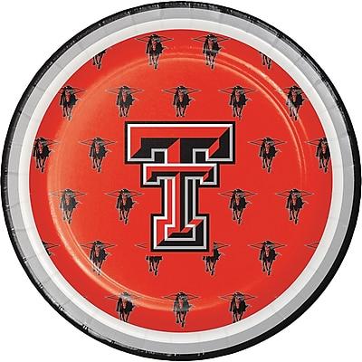NCAA Texas Tech University Dessert Plates 8 pk (414891)
