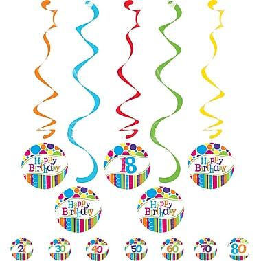 Creative Converting Bright and Bold Dizzy Danglers 5 pk (031412)