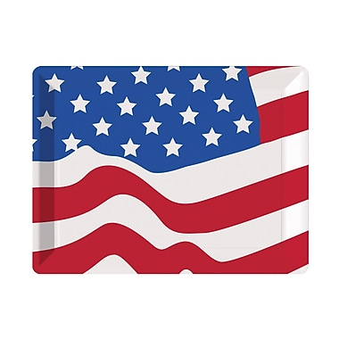Creative Converting Flag Plastic Serving Tray, each (054402)