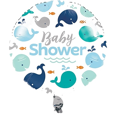 Creative Converting Blue Baby Whale Mylar Balloon (324426)