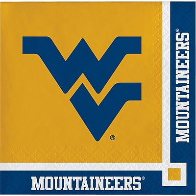 NCAA West Virginia University Beverage Napkins 20 pk (654895)