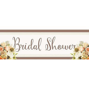 Creative Converting Rose Gold Bouquet Bridal Shower Banner (318162)