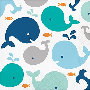 Creative Converting Blue Baby Whale Napkins 16 pk (322197)