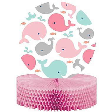 Creative Converting Pink Baby Whale Centerpiece (324413)