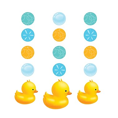 Creative Converting Rubber Duck Bubble Bath Hanging Cutouts 3 pk (997058)